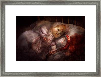 Creepy - Doll - Night Terrors Framed Print by Mike Savad