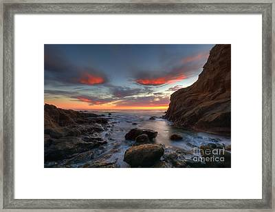 Crescent Bay Cove At Dusk Framed Print by Eddie Yerkish