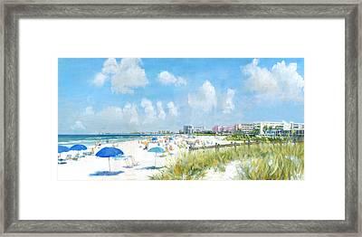 Crescent Beach On Siesta Key Framed Print by Shawn McLoughlin