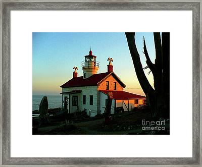 Crescent City Lighthouse Framed Print by Chad Rice