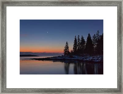 Crescent Moon Framed Print by Benjamin Williamson
