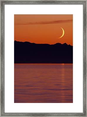 Crescent Moon Framed Print by Jim Lundgren