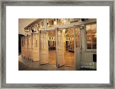 Crescent Park Carousel Framed Print by Juli Scalzi