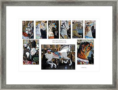Crescent Park Loof Carousel Framed Print by Diane E Berry