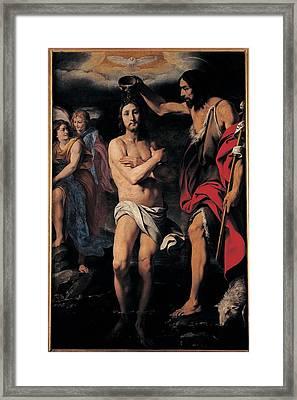 Crespi Daniele, The Baptism Of Christ Framed Print by Everett