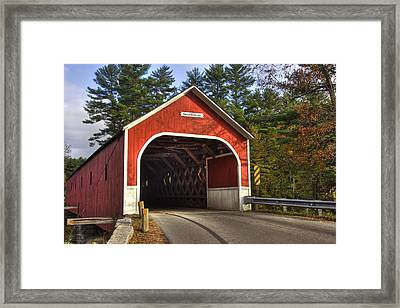 Cresson Covered Bridge 2 Framed Print by Joann Vitali