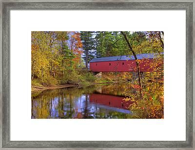 Cresson Covered Bridge 3 Framed Print by Joann Vitali