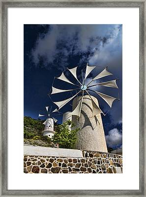 Creton Windmills Framed Print by David Smith