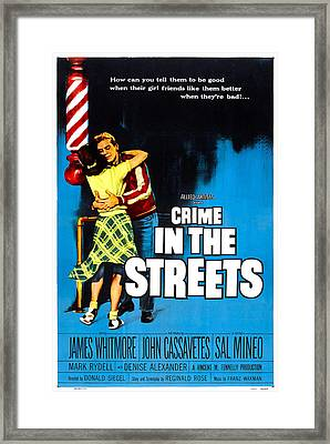 Crime In The Streets, Us Poster, Denise Framed Print by Everett