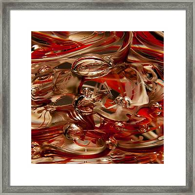 Crimson And Gray Glass Macro Ws1 Framed Print by David Patterson