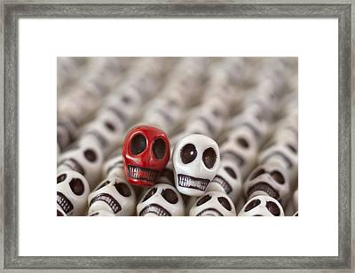 Crimson And White Framed Print by Mike Herdering
