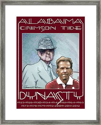 Crimson Dynasty Framed Print by Jerrett Dornbusch