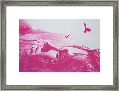 'crimson Light' Framed Print by Christian Chapman Art