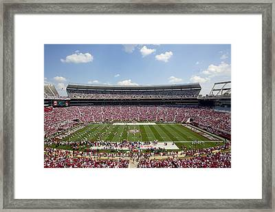 Crimson Tide A-day Football Game At University Of Alabama  Framed Print by Carol M Highsmith