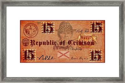Crimson Tide Currency Framed Print by Greg Sharpe