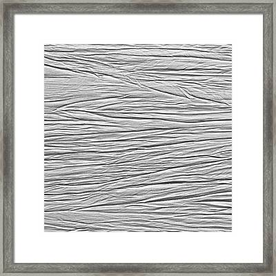 Crinkled Background Framed Print by Tom Gowanlock