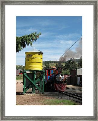 Cripple Creek Train Framed Print by Steven Parker