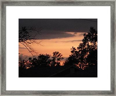 Crisp Fiery Landscape Framed Print by Suzanne Perry
