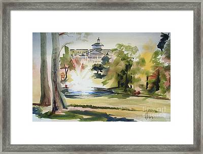 Crisp Water Fountain At The Baptist Home  Framed Print by Kip DeVore
