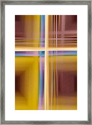 Crisscross 3 Framed Print by Tom Druin
