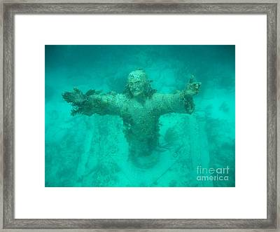 Crist Of The Abyss Framed Print by Adam Jewell