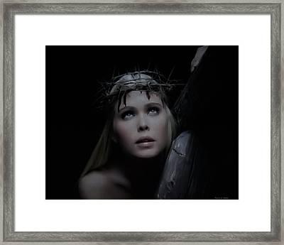 Crista Retrato Framed Print by Ramon Martinez