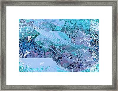 Cristal Violin Framed Print by Moustafa Al-Hatter