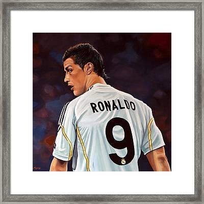 Cristiano Ronaldo Framed Print by Paul Meijering