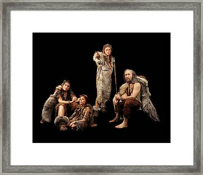 Cro-magnon People Framed Print by S. Entressangle/e. Daynes