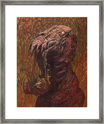 Croakjaw  Framed Print by Ethan Harris