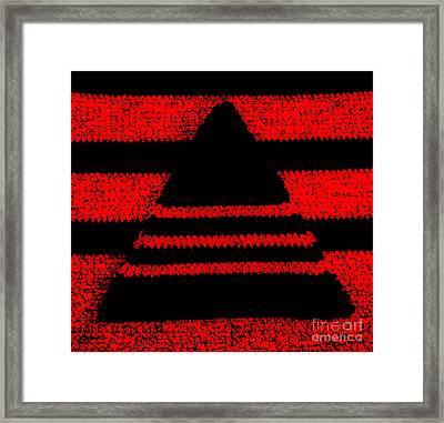 Crochet Pyramid Digitally Manipulated Framed Print by Kerstin Ivarsson