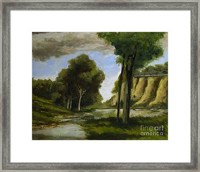 Crockets View Of Seven Pillars Framed Print by Charlie Spear