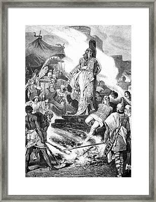 Croesus On The Stake Framed Print by Bildagentur-online/tschanz