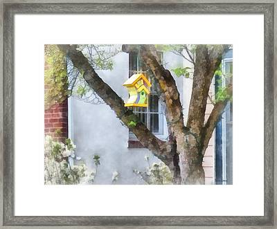 Crooked Bird House Framed Print by Susan Savad