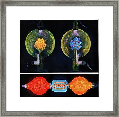 Crookes Tubes Framed Print by Cci Archives