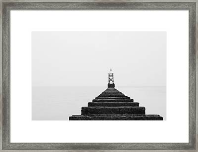 Crosby Beach Black And White Framed Print by Phillip Orr