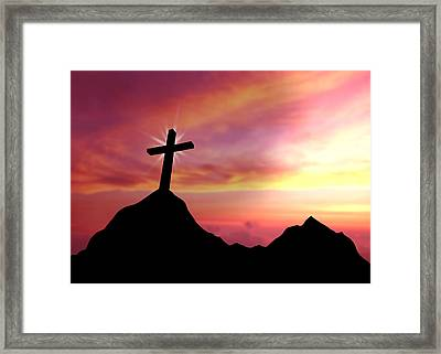 Cross Framed Print by Aged Pixel