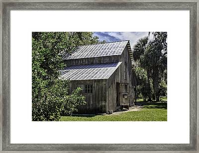 Cross Creek Barn Framed Print by Lynn Palmer