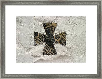Cross Framed Print by Henrik Lehnerer