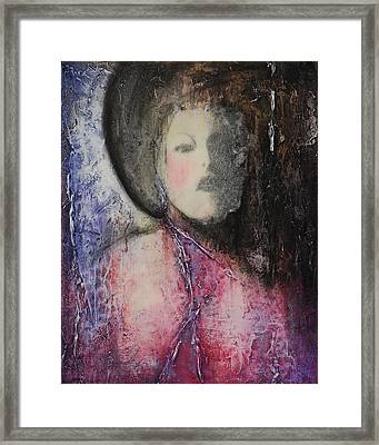 Cross My Heart Framed Print by Cheryl Poulin