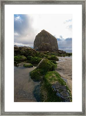 Cross Of Cannon Beach Framed Print by Scott Campbell