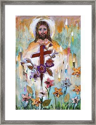 Cross Of Christ Framed Print by Mary Spyridon Thompson