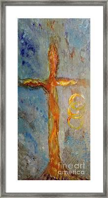 Cross Of Endless Love Framed Print by Ella Kaye Dickey