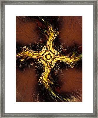 Cross Of Light Framed Print by Anastasiya Malakhova