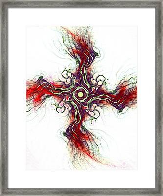 Cross Of Nature Framed Print by Anastasiya Malakhova