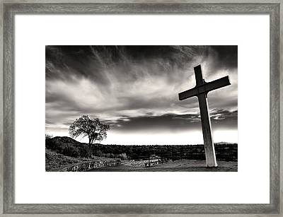 Cross Of The Martyrs Framed Print by Diana Angstadt