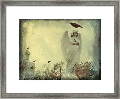Cross Or Angel Framed Print by Gothicolors Donna Snyder