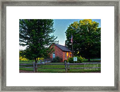 Cross School Framed Print by Mike Flake