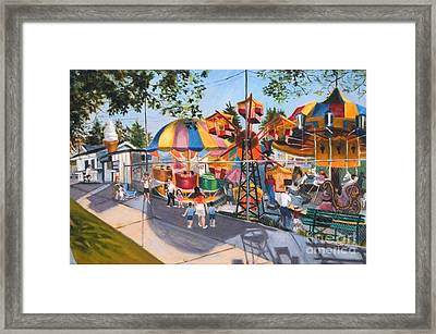 Crossbay Amusement Park Framed Print by Madeline  Lovallo