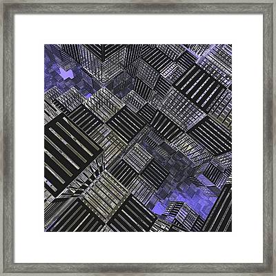 Crosshatch Framed Print by Peter J Sucy
